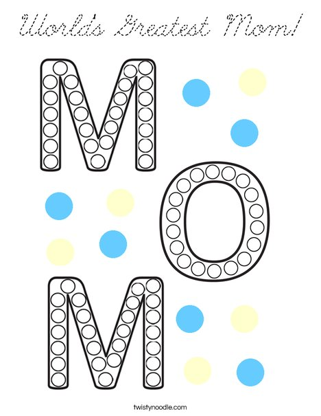 World's Greatest Mom! Coloring Page