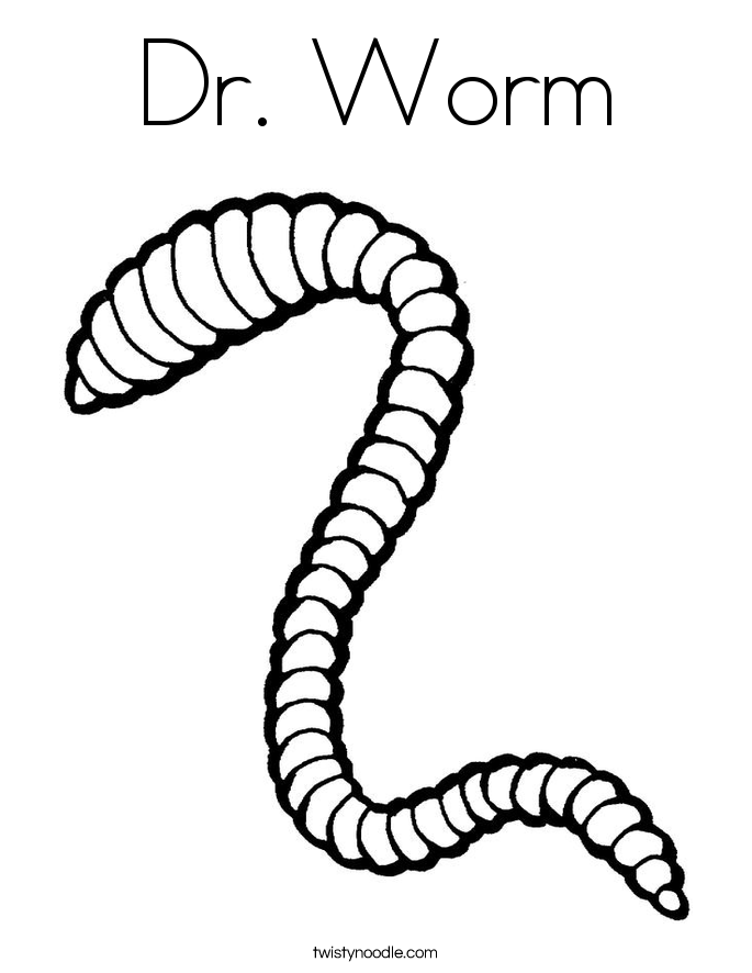 Dr. Worm Coloring Page