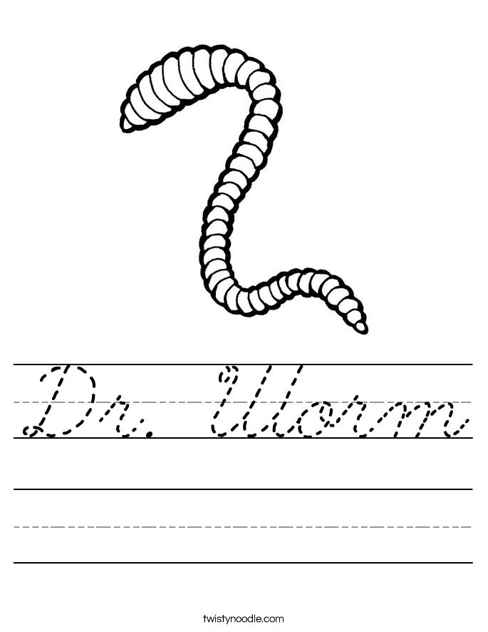 Dr. Worm Worksheet