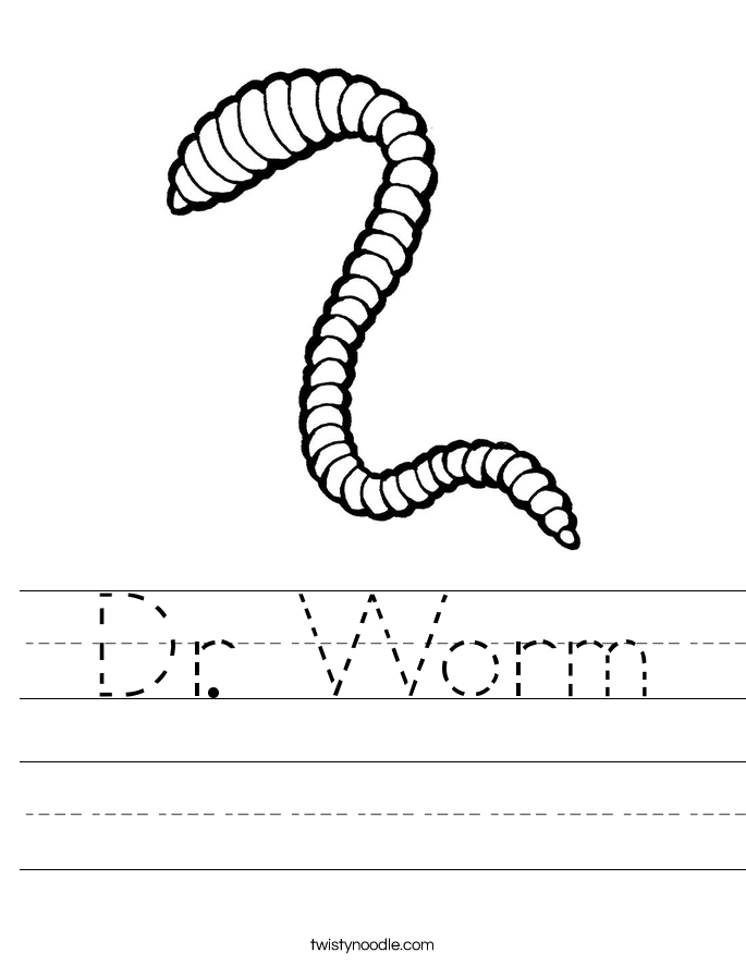 Dr. Worm Worksheet