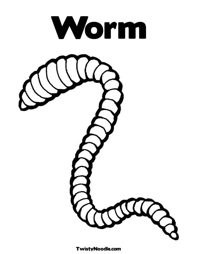 earthworm coloring pages - photo #12