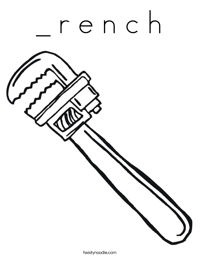 _ r e n c h Coloring Page