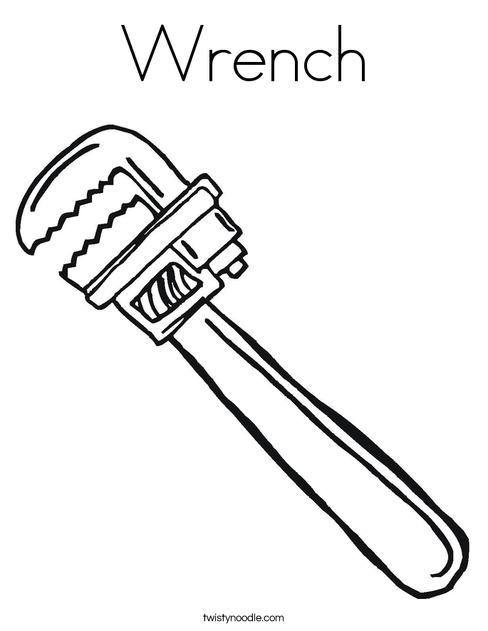 Wrench Coloring Page