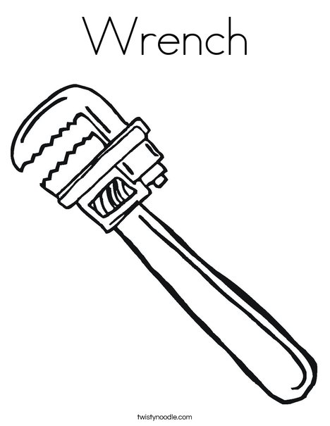 Wrench1 Coloring Page
