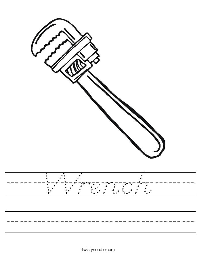 Wrench Worksheet
