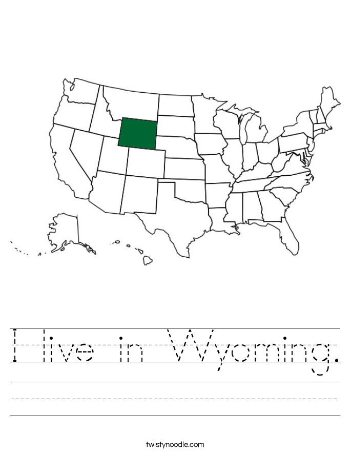 I live in Wyoming. Worksheet