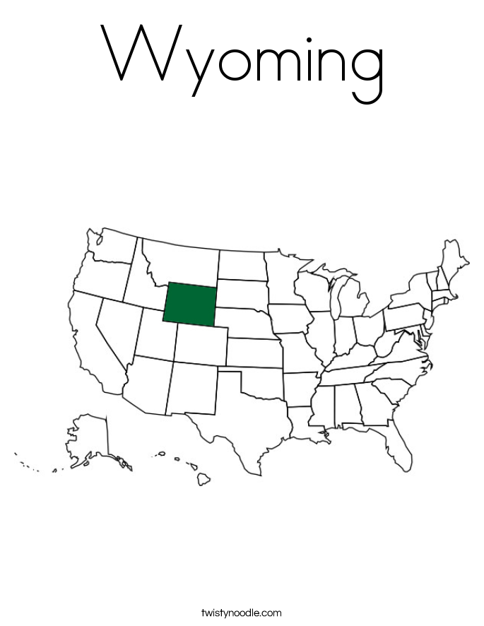 Wyoming Coloring Page
