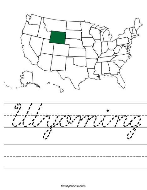 Wyoming Worksheet