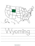 Wyoming Handwriting Sheet