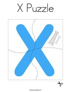 X Puzzle Coloring Page