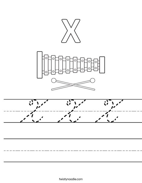 X Xylophone Worksheet