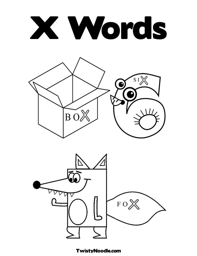 Letter X Coloring Pages  dltkteachcom