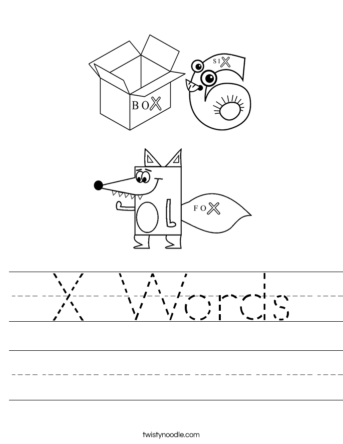 X Words Worksheet
