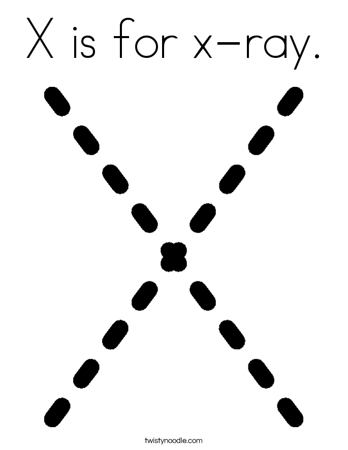 x is for x ray coloring pages - photo #29