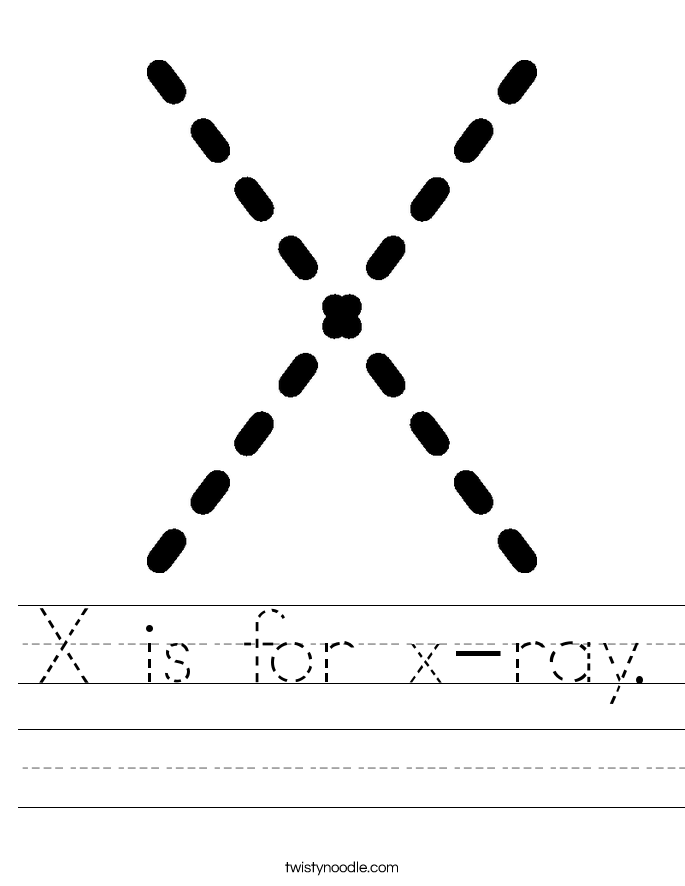 X is for x-ray. Worksheet
