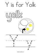 Y is for Yolk Coloring Page