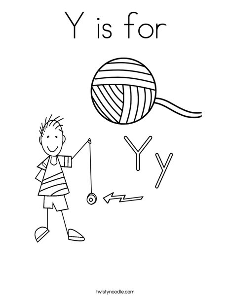 Y is for Coloring Page