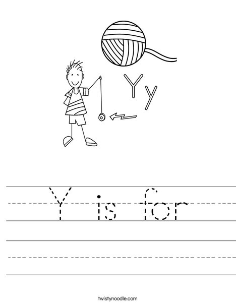 Y is for Worksheet