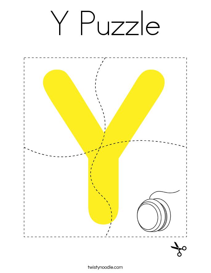 Y Puzzle Coloring Page
