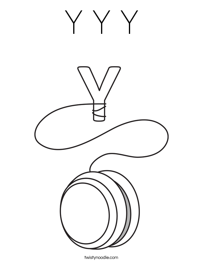 Y Y Y Coloring Page