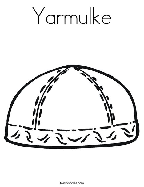 Yarmulke Coloring Page