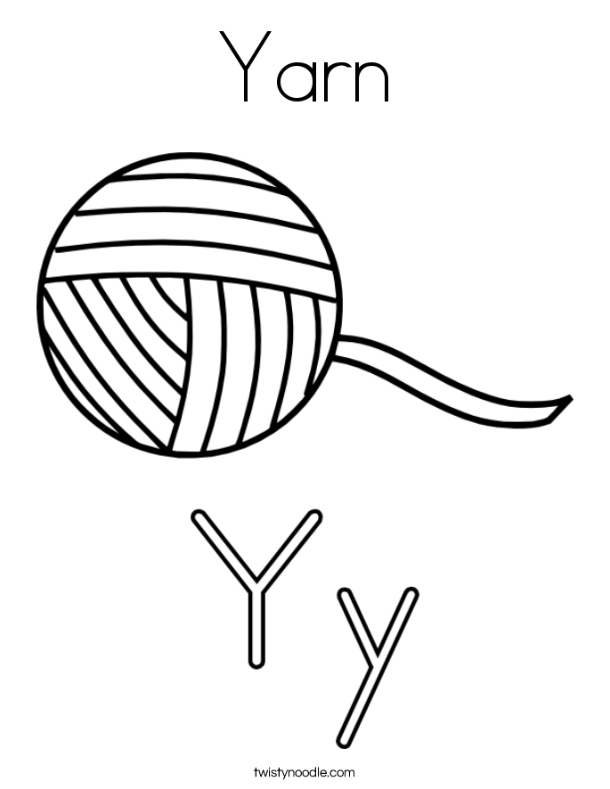 Yarn Coloring Page - Twisty Noodle