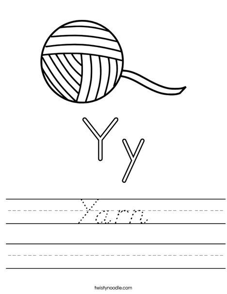 Yarn Worksheet
