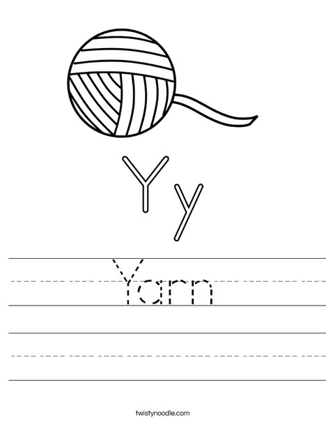 Yarn Worksheet
