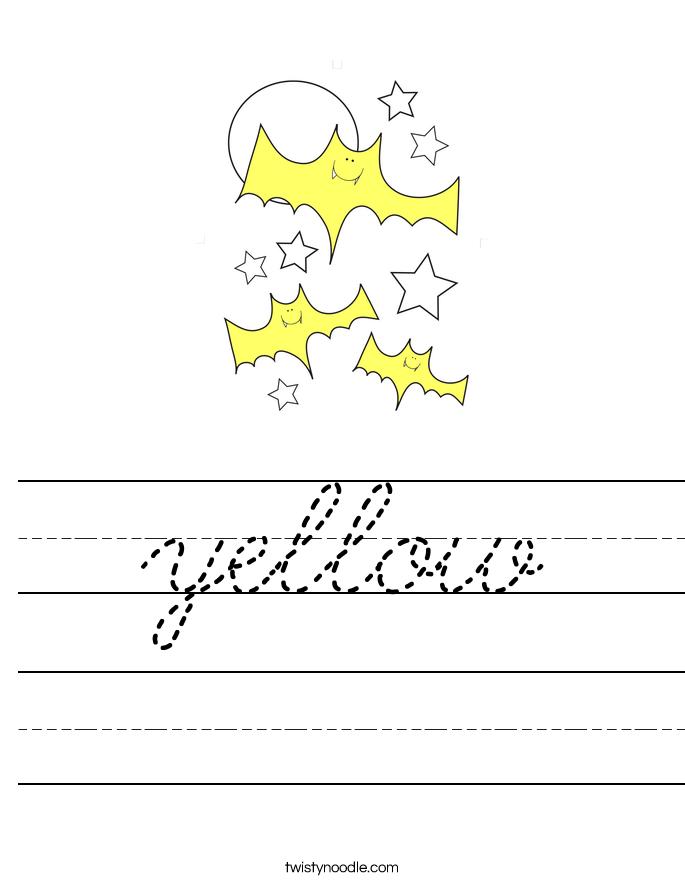 yellow Worksheet