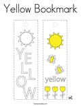 Yellow Bookmark Coloring Page