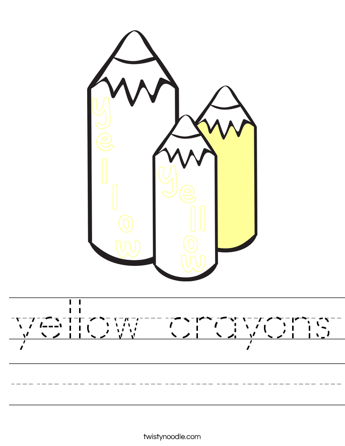 yellow crayons Worksheet