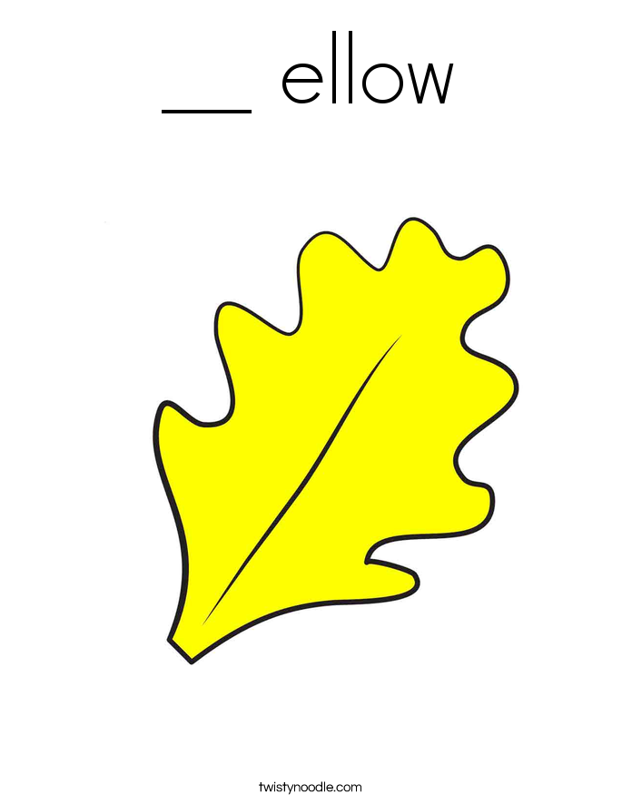 __ ellow Coloring Page
