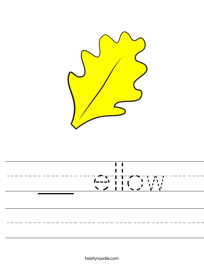 __ ellow Worksheet