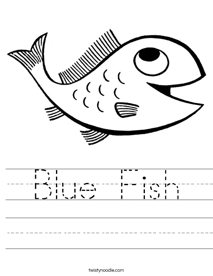 Blue Fish Worksheet