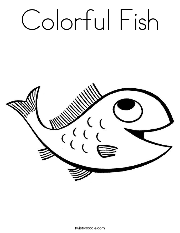 Colorful Fish Coloring Page