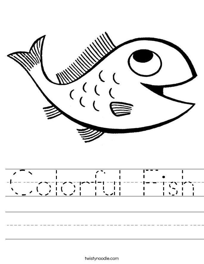 Colorful Fish Worksheet