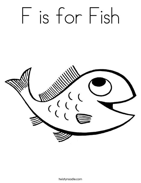 f for fish coloring pages - photo #21