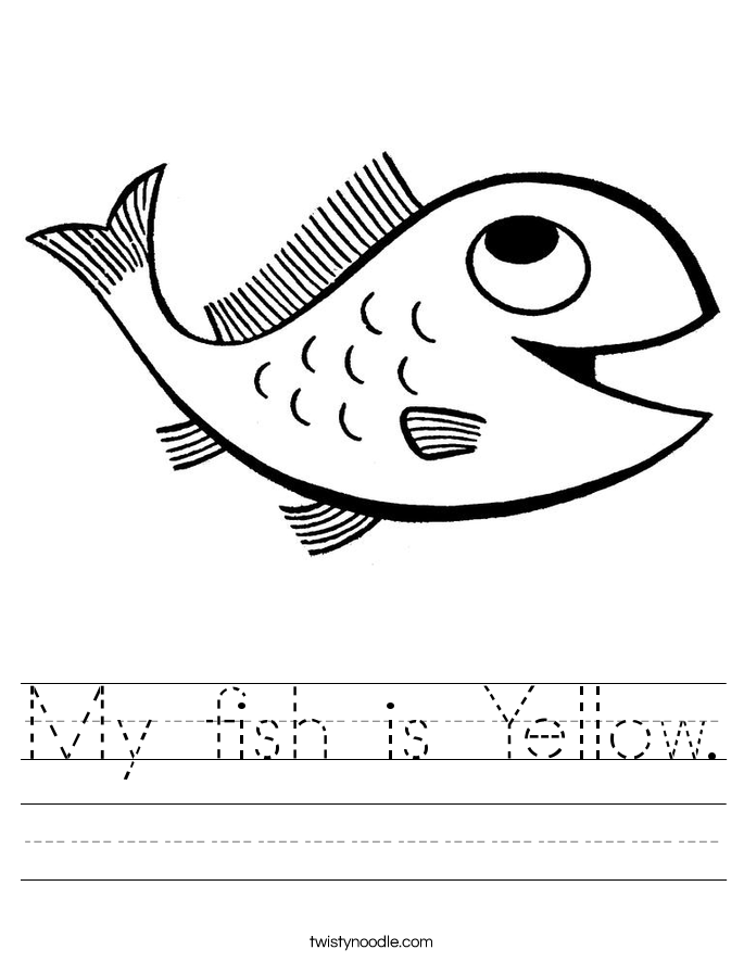 My fish is Yellow. Worksheet