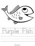 Purple Fish Worksheet