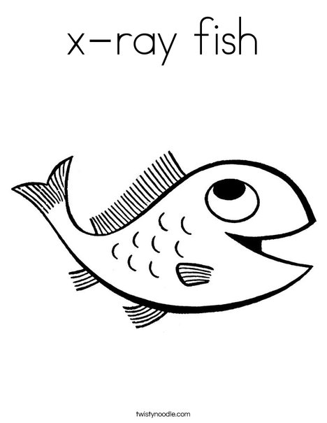 X Ray Fish Coloring Page Twisty Noodle