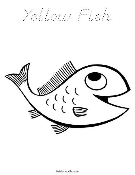 Yellow Fish Coloring Page