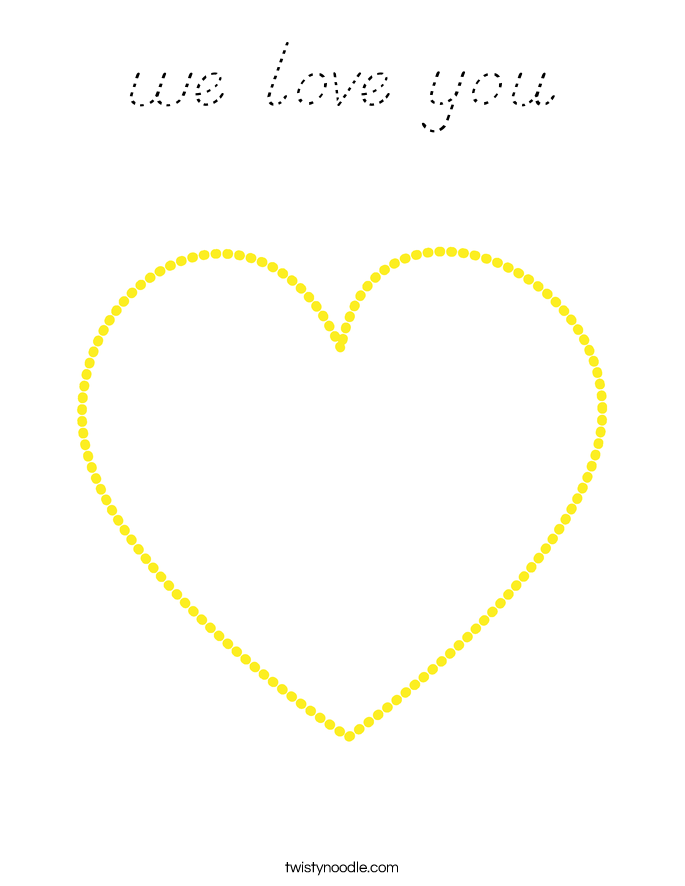 we love you Coloring Page