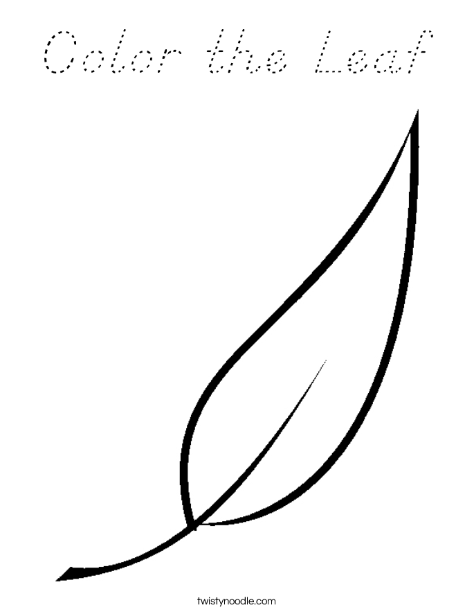 Color the Leaf Coloring Page