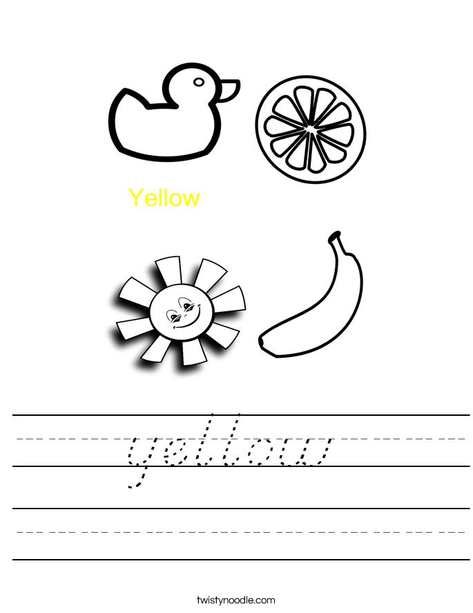 yellow Worksheet