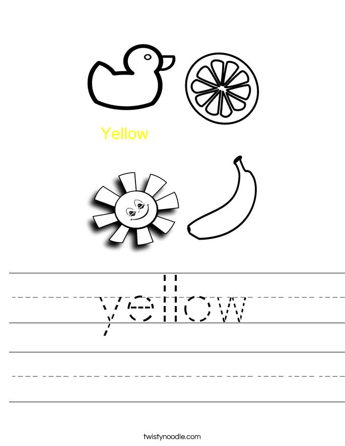 Yellow Worksheet | Have Fun Teaching