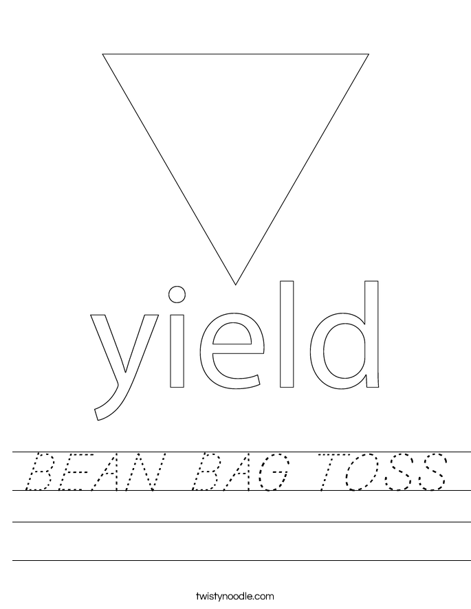 BEAN BAG TOSS Worksheet