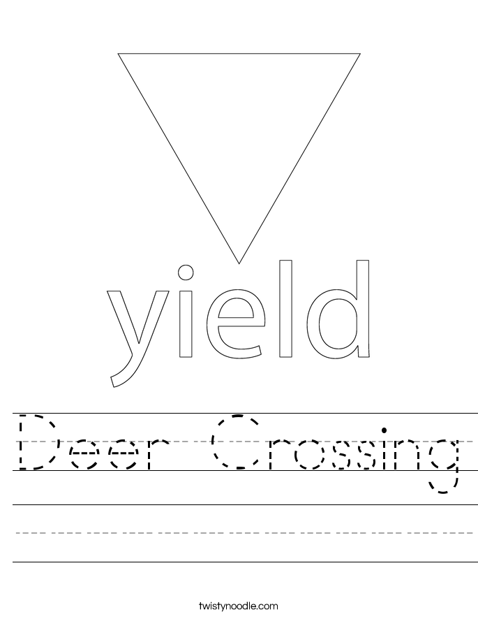Deer Crossing Worksheet