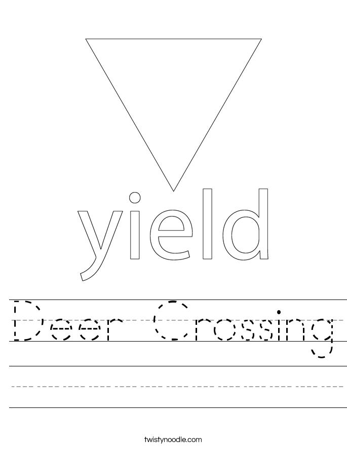 Deer Crossing Worksheet