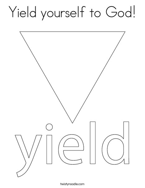 Yield Traffic Sign Coloring Page