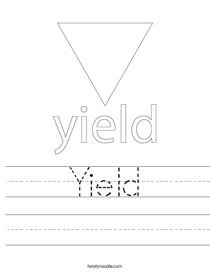 Yield Worksheet